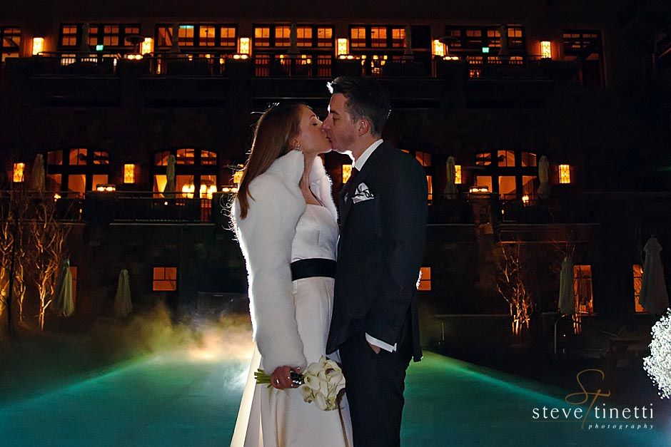 Imagine A Kiss On The Pool Terrace Bathed In Illuminated Steam