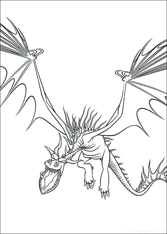 Dragon Coloring Pages Dragon Coloring Page How Train Your