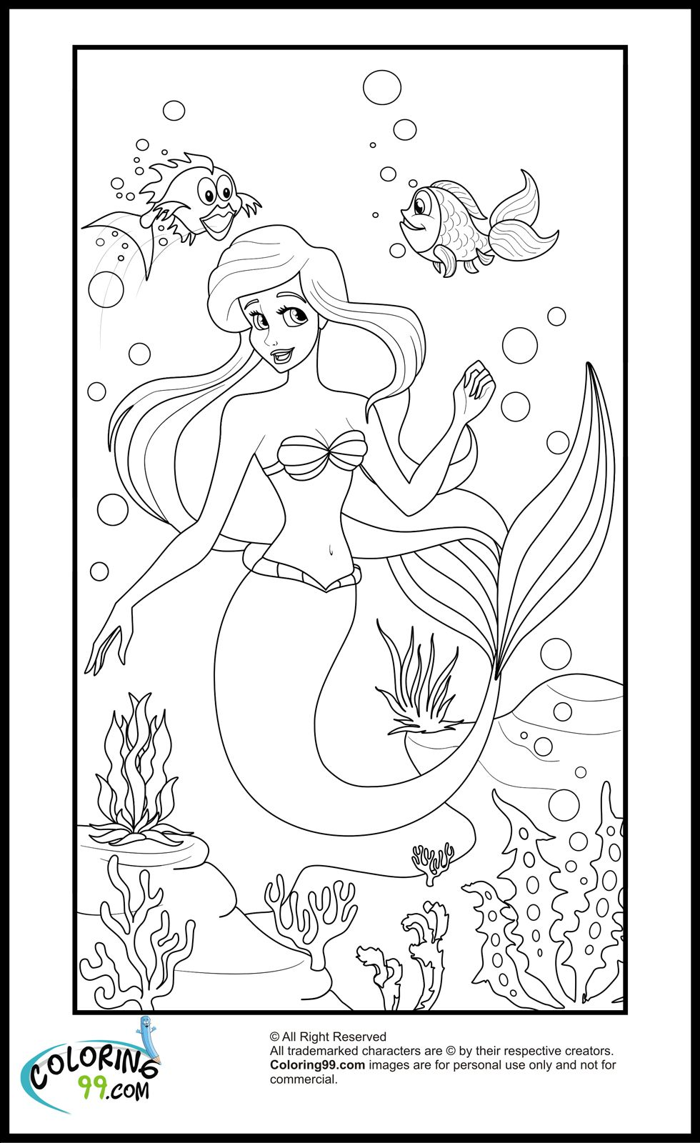 coloring pages of princess ariel virtren com