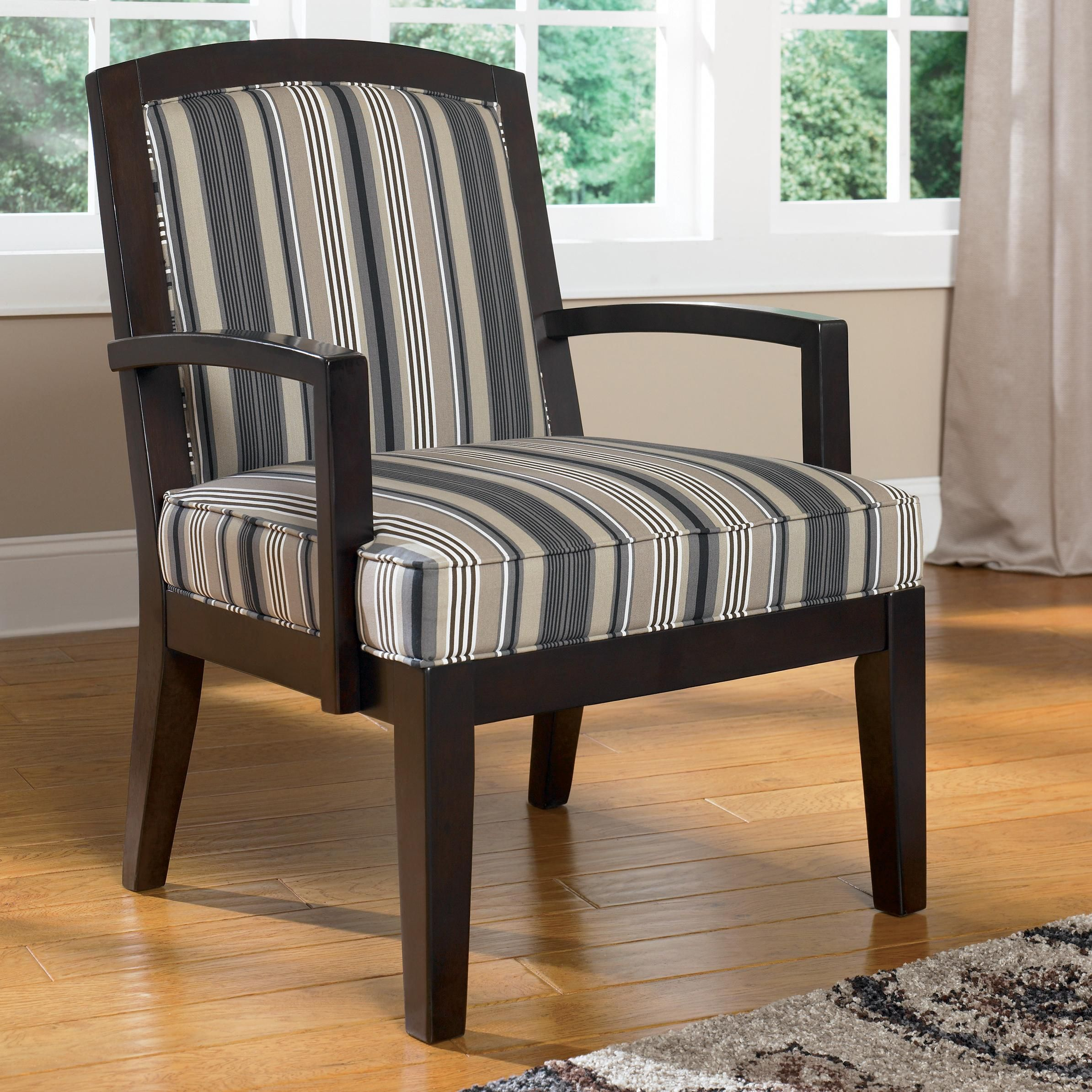 Ashley Furniture Toledo: Steel Showood Accent Chair By Ashley Furniture