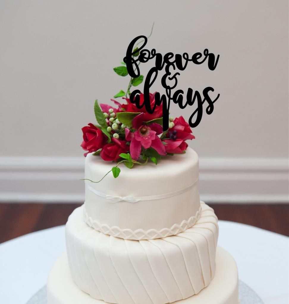 Cake Topper Forever & Always Cake toppers, Cake