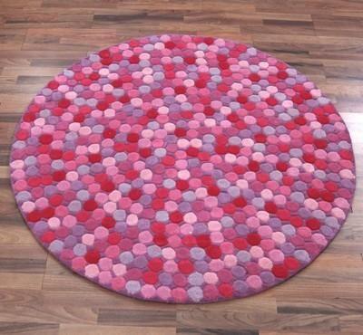 Pink Dotty Round Rug