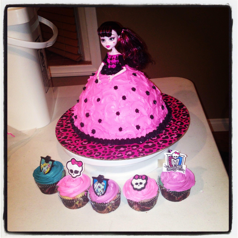 Monster High Doll Cake Amp Cupcakes Monster High Cakes