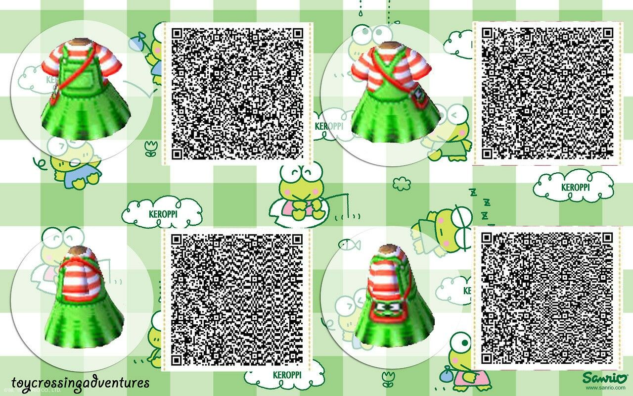 ACNL Qr code Keroppi dress | Animal Crossing | Pinterest | Qr codes Qr Code Animalcrossing Happy Home Designer Clothing Html on