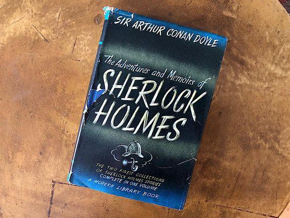 Vintage Sherlock Holmes Book – Short Story Collection – Vintage Modern Library Decor Literary Mystery Lover Gift – Arthur Conan Doyle