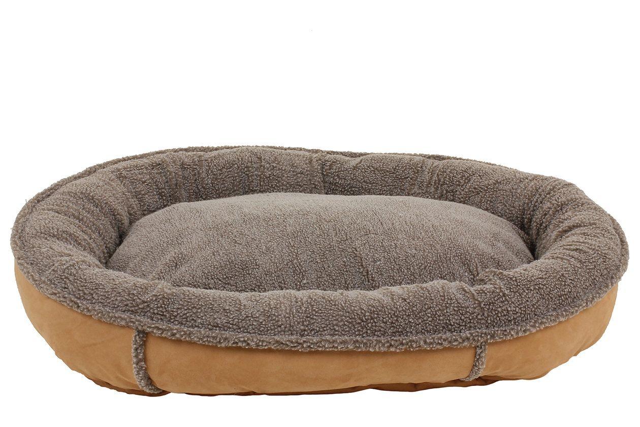 Berber Large Round Comfy Cup®, Caramel Bolster dog bed