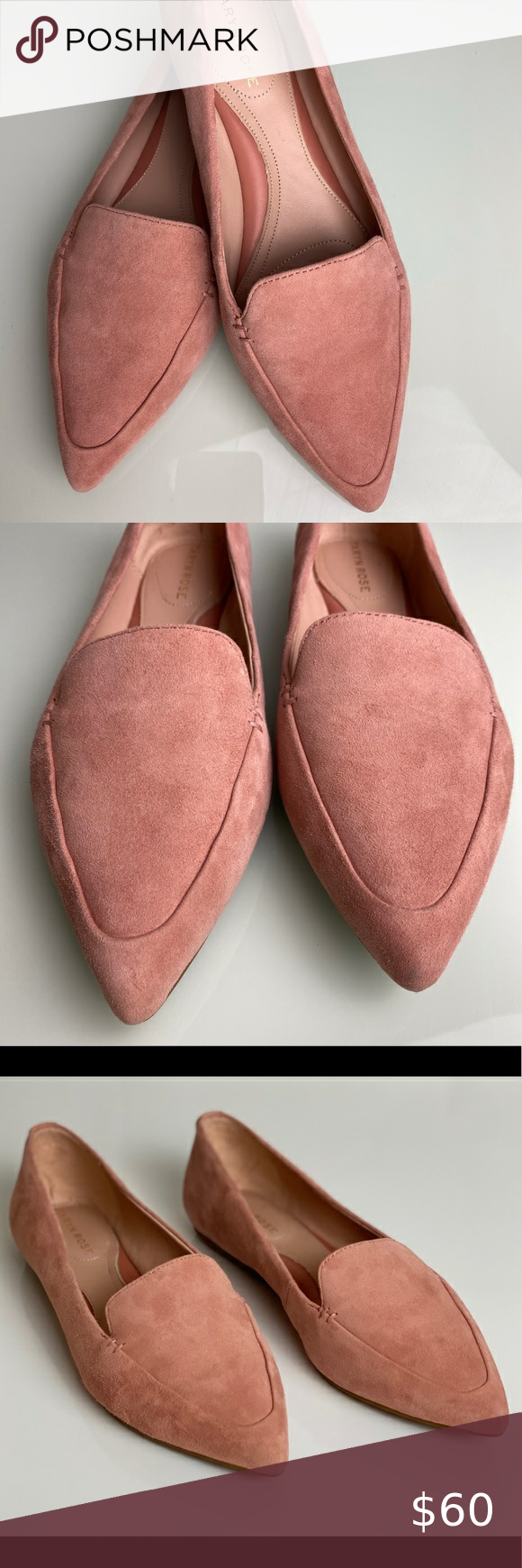 0008) Taryn Rose Pink Suede Loafer in
