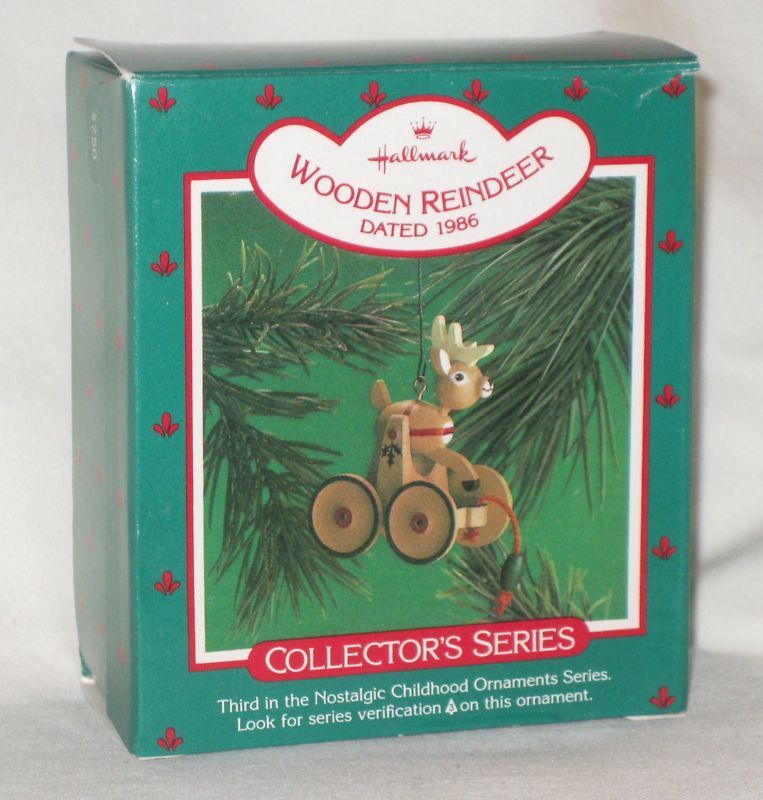 Hallmark keepsake ornament 1986 wooden reindeer 3