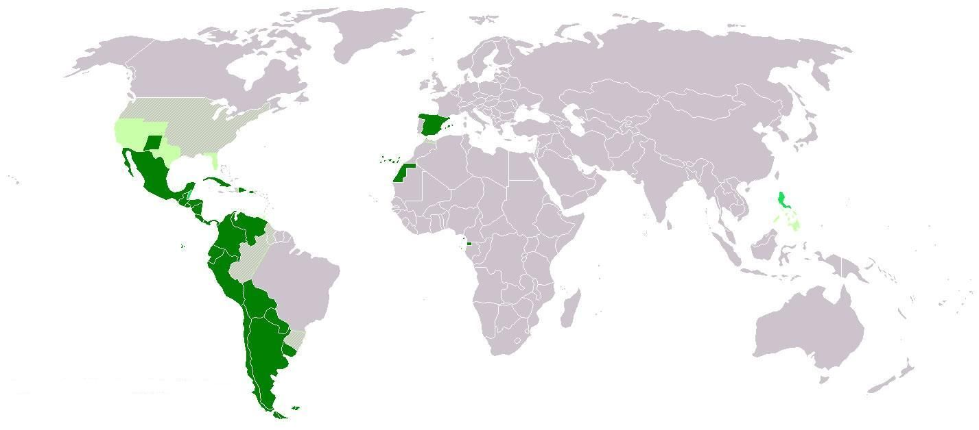 spanish speaking countries map! #learnspanish | spanish speaking