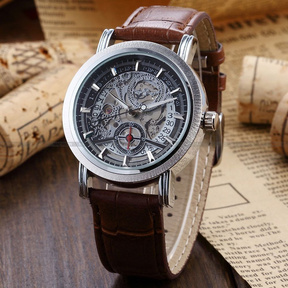 Skeleton Steampunk Mechanical Hand Watch - https://www.magnusking.co.za/collections/frontpage/products/skeleton-steampunk-mechanical-watch