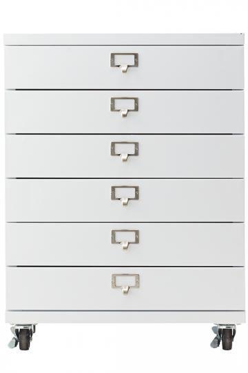 Becker 6-Drawer Metal Cart - Rolling Storage Cart - Storage Carts - Storage Drawers | HomeDecorators.com  sc 1 st  Pinterest & Becker 6-Drawer Metal Cart - Rolling Storage Cart - Storage Carts ...