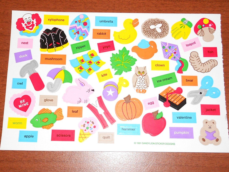 Rare Vintage Sandylion Sticker Etsy Sticker Sheets Sticker Book Rad Stickers