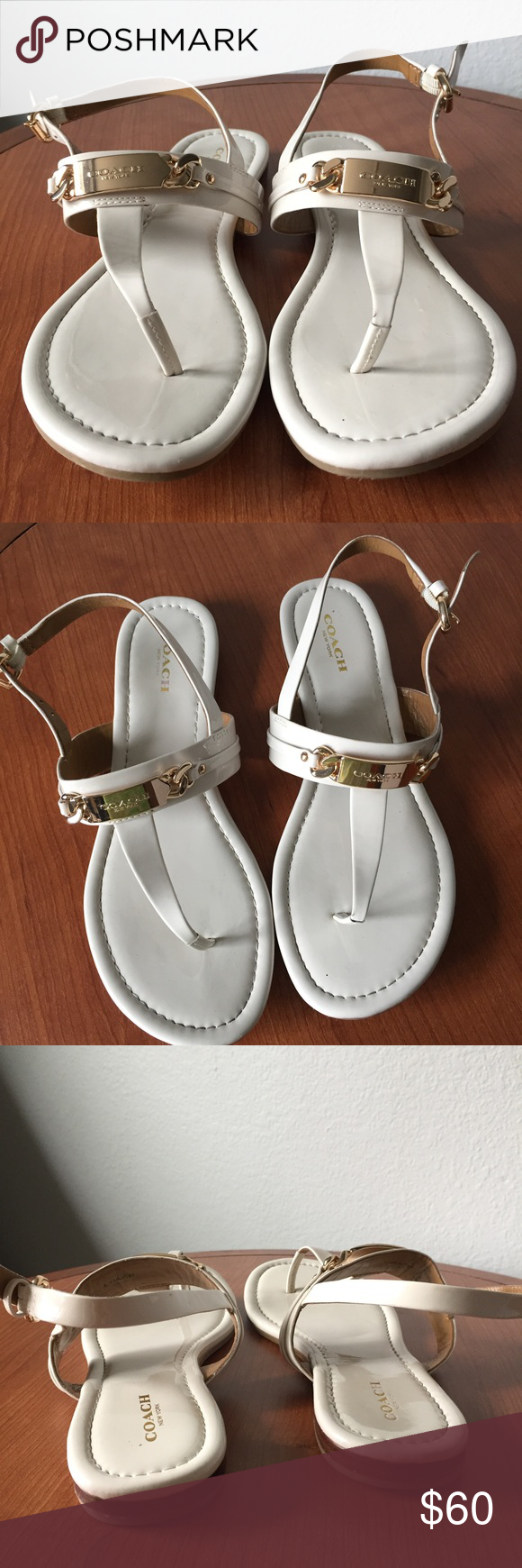 Coach Caterine patent sandals EUC Size 7.5 excellent condition! Coach Shoes Sandals