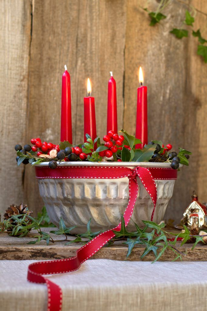 Photo of Advent wreath in Gugelhupf form