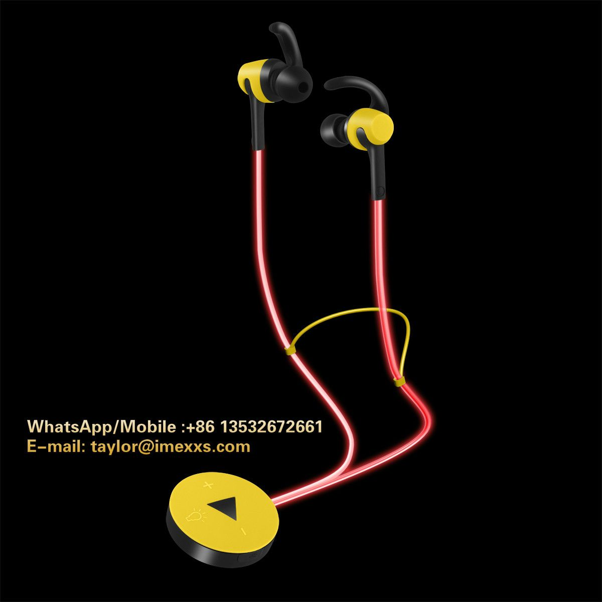 Luminous bluetooth earphone