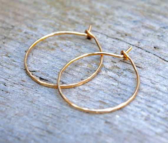 Small Gold Hoop Earrings Tiny Thin Hoops By Houseofstonez 12 00