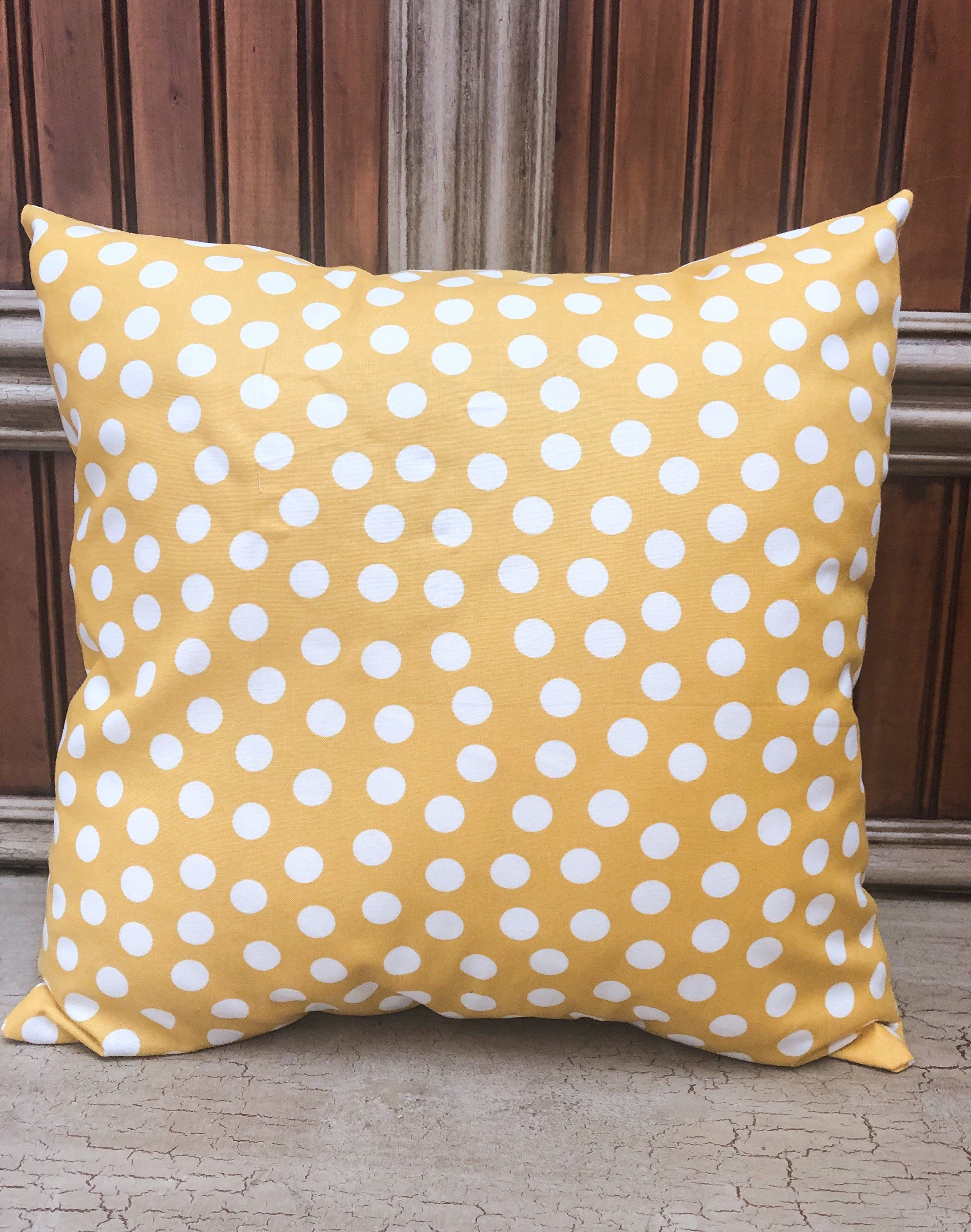 Polka Dot Pillow Covers Sofa Pillows Yellow Throw Pillows