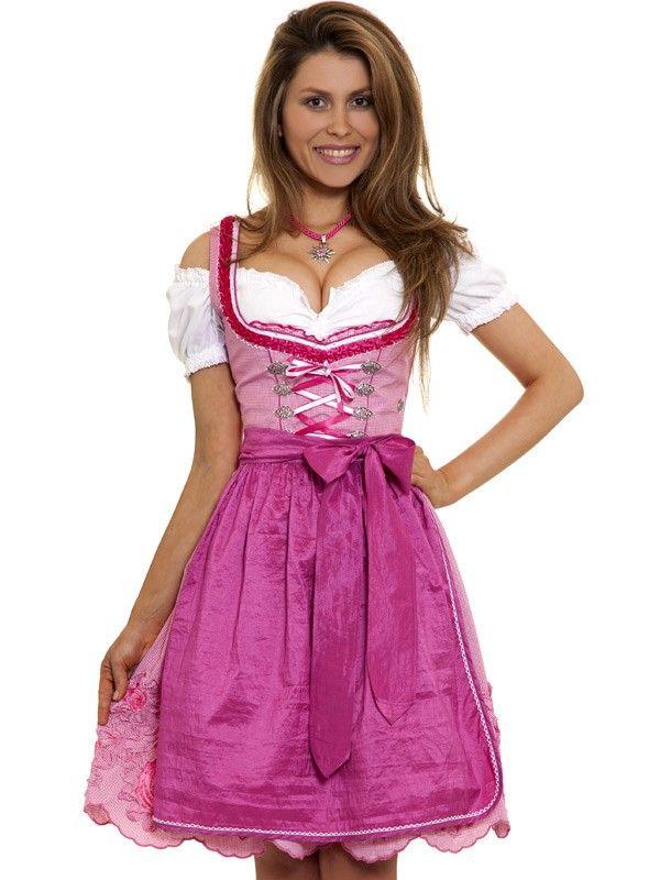 Mini Dirndl Esperanza (pink/karo)
