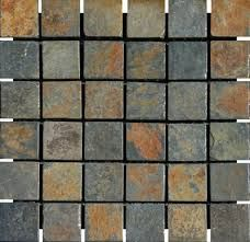 Small Slate Tiles For Main Shared Bathroom Interior