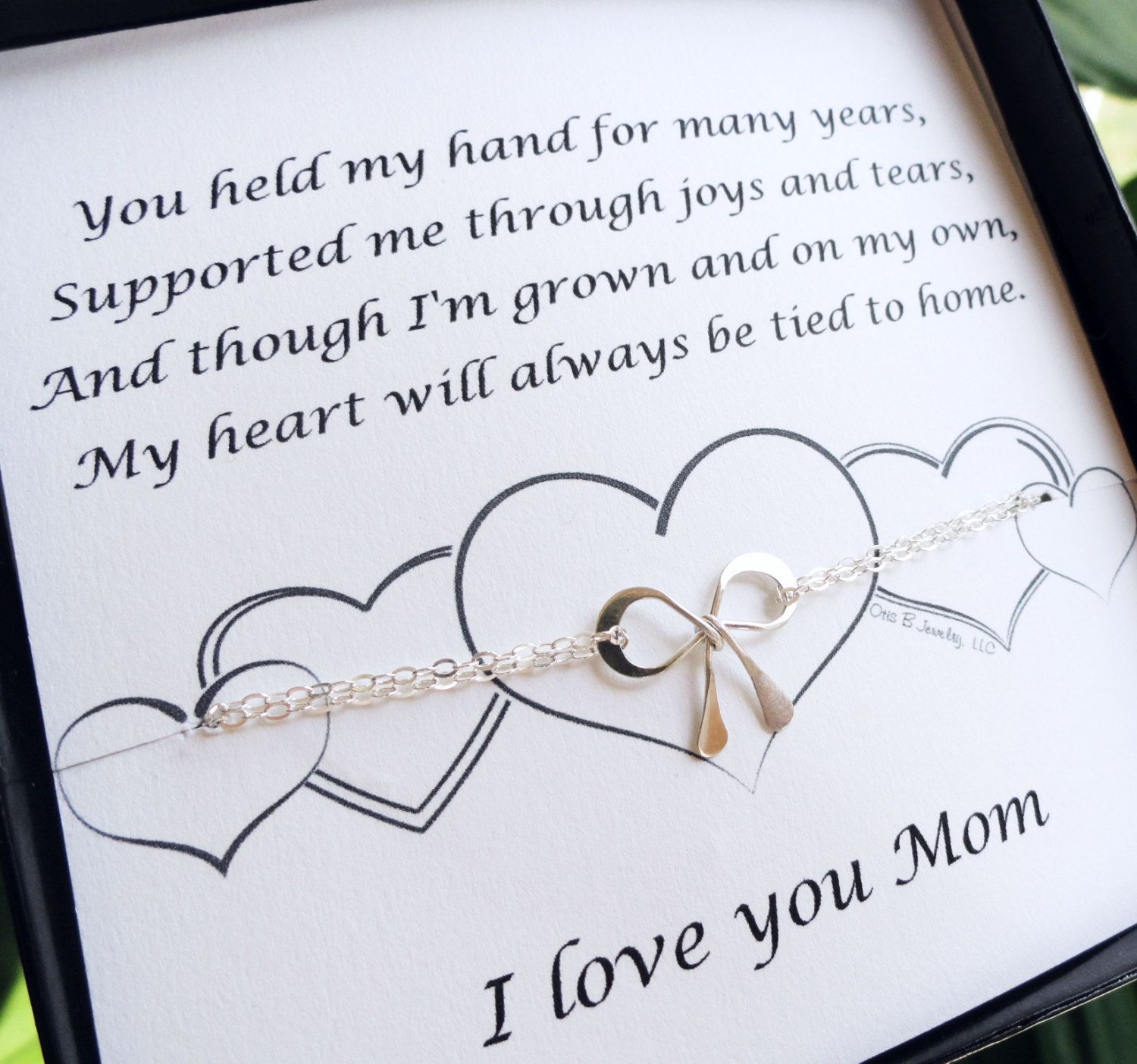 Gift for mother of the bride, mother of the groom, Bow bracelet ...