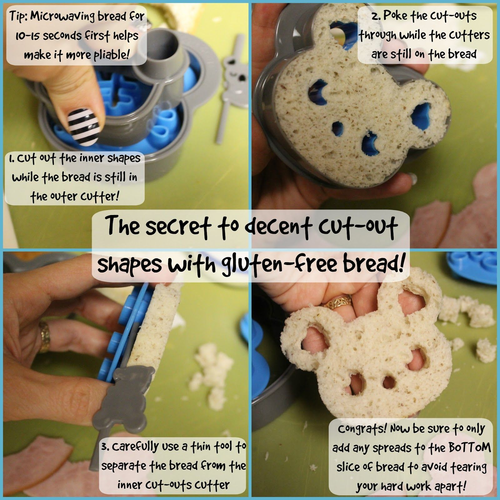 How to use CuteZCute cut-out cutters on gluten-free bread without it falling apart!