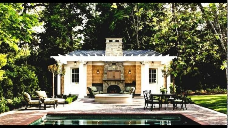 Outdoor Kitchen Designs With Pool Pool House Designs Guest House Plans Small Pool Houses