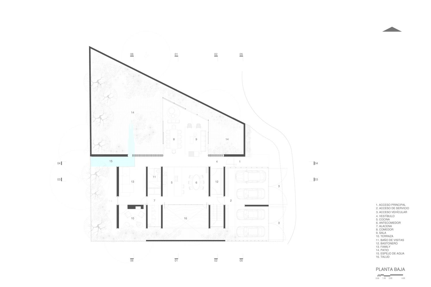 Gallery Of Genius Loci House Gabriela Carrillo Valdez Tescala 16 Genius Loci Ground Floor Plan Valdez