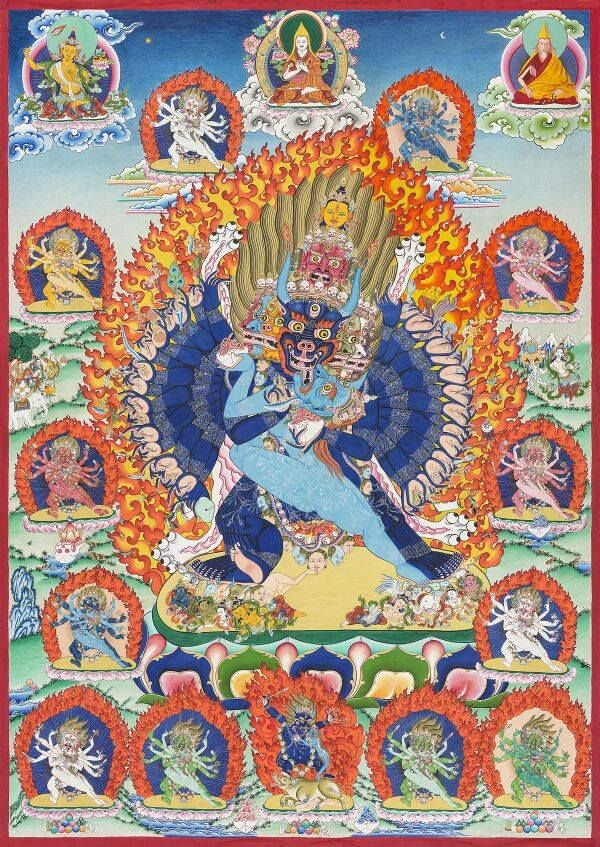 I had commissioned this Thirteen Deity Yamantaka thangka  With Lord