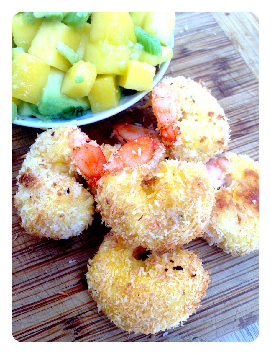 Coconut Shrimp. Gluten Free, Dairy Free & Paleo. Recipe on www.thelittlegreenspoon.com