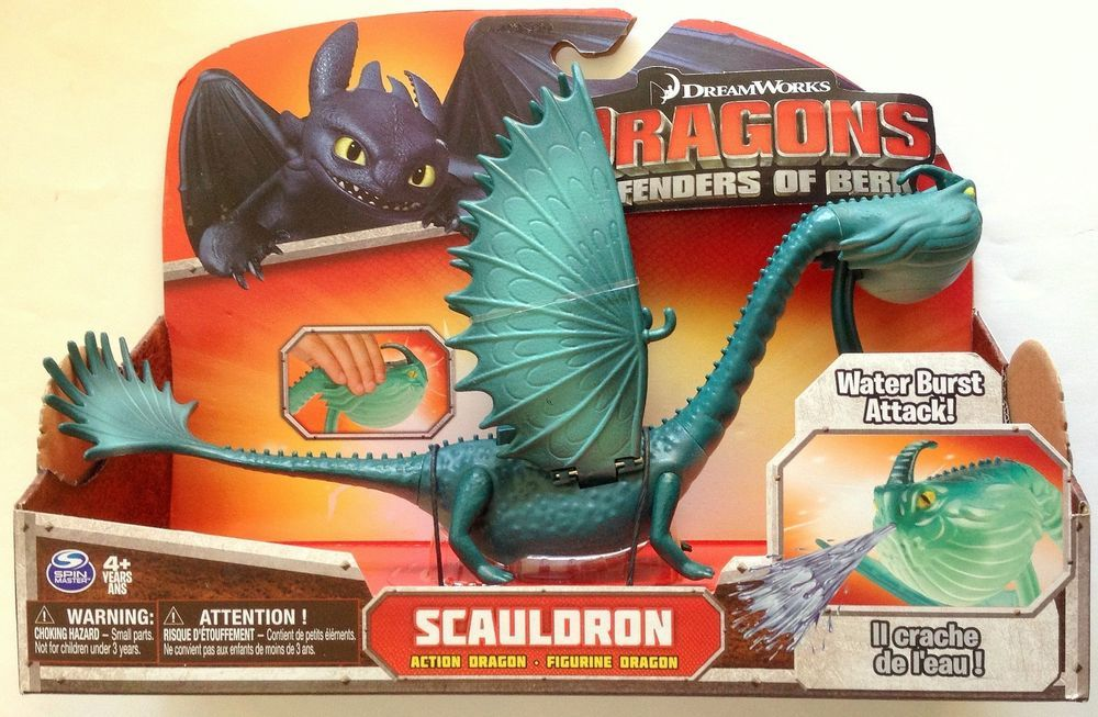 Dreamworks Dragons Defenders of Berk Action Dragon Figure Scauldron SOLD OUT #SpinMaster