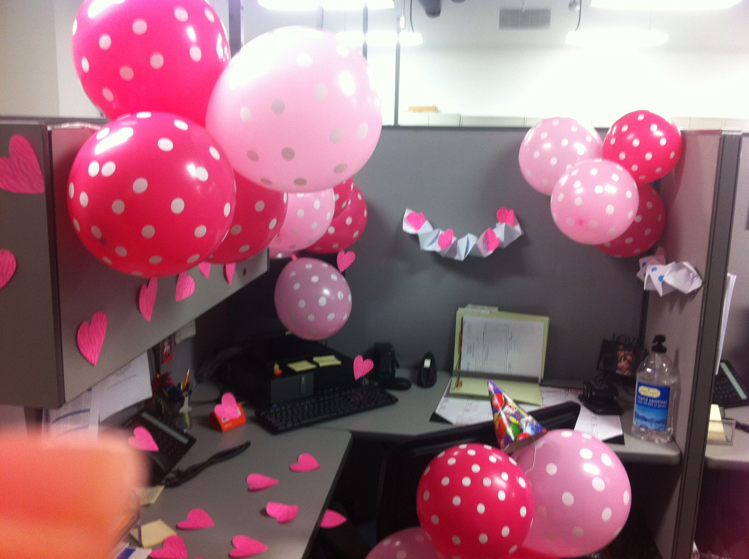 Cubicle Birthday Decoration