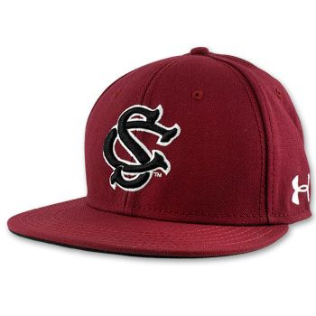 b11ca6dc980 South Carolina Gamecocks Under Armour 2014 Official Team Baseball Fitted Hat  - Garnet