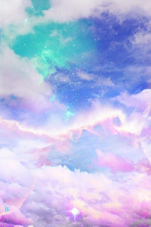 Backgrounds Beautiful Blue Clouds Green Pretty Purple Sky Stars Wallpapers Pastel Goth Background Galaxy Wallpaper Pastel Sky