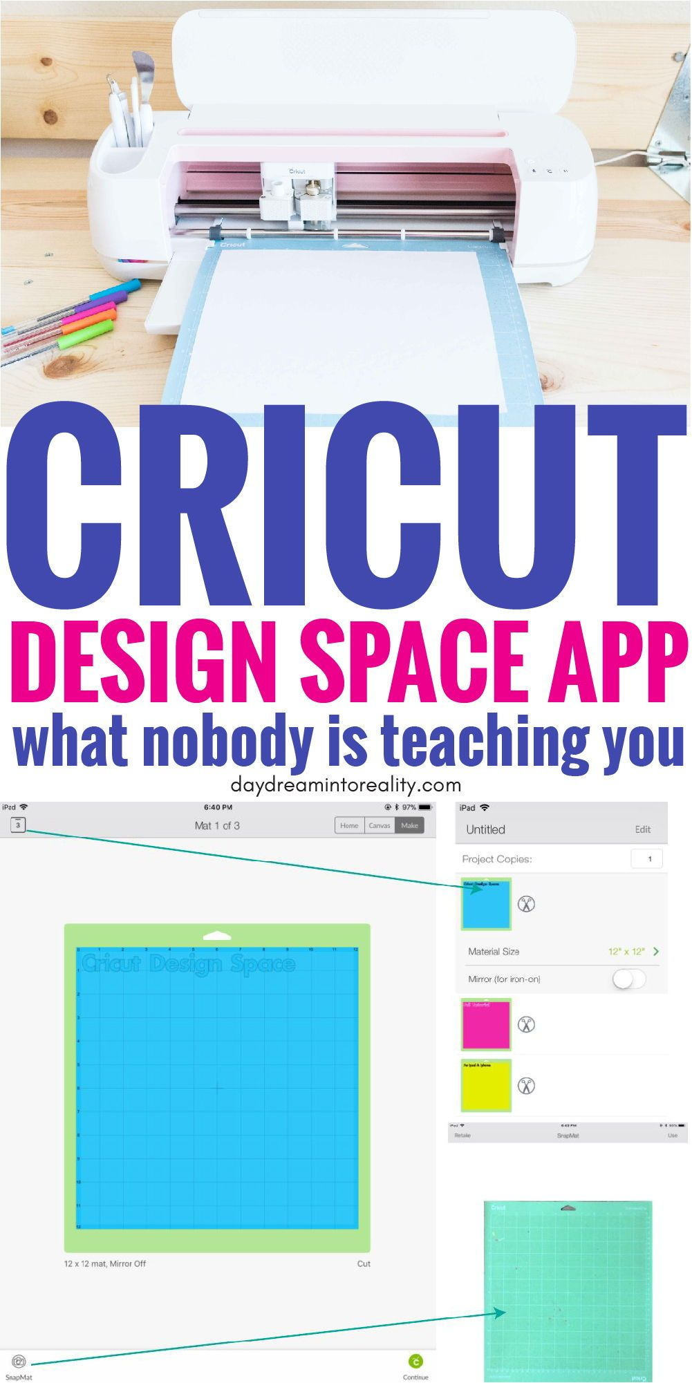 How to use Cricut Design Space on your Ipad & Phone Full
