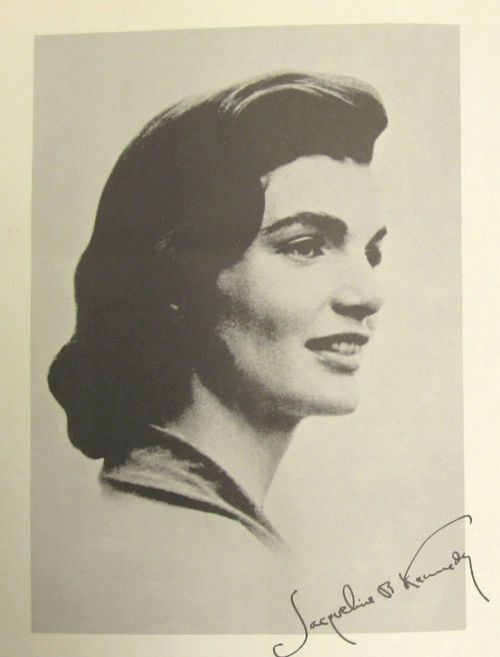 Jacqueline Kennedy on the cover of the Presidential Inauguration Guide Book (1961)
