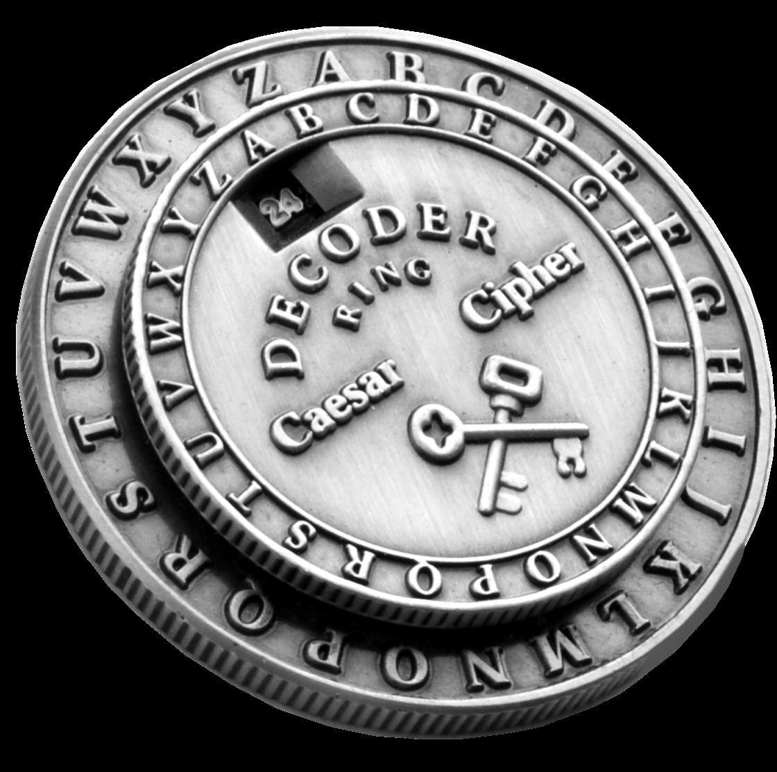 Details about Secret Decoder Ring - Caesar Cipher Medallion (Little
