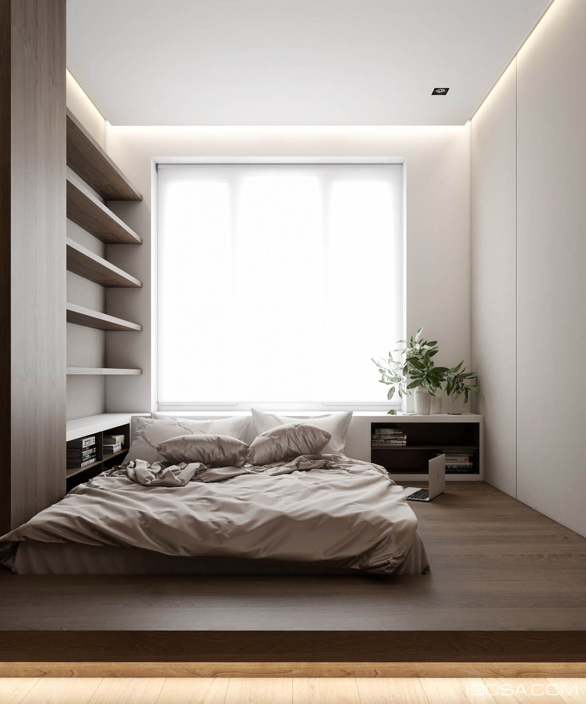 20 Best Small Modern Bedroom Ideas: Home Design Under 60 Square Meters: 3 Examples That