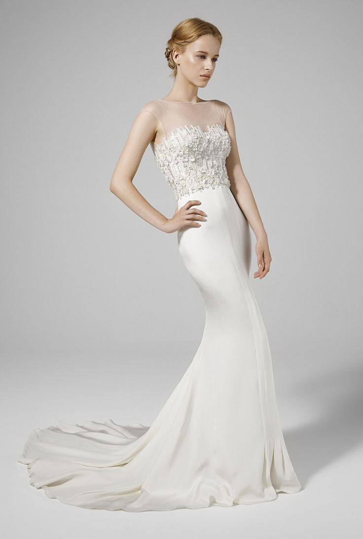 Flattering wedding dresses for plus size   u IDAN COHEN  showing quite a bit of skin but ok for a
