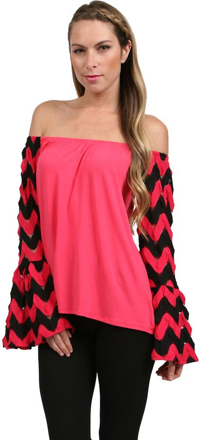 c10a8e522f5 VAVA by Joy Han Wave Skyler Off Shoulder Top in Fuchsia on shopstyle ...