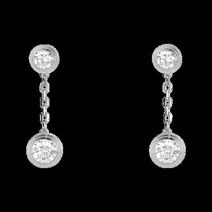 Diamants Legers De Cartier Diamond Drop Earrings