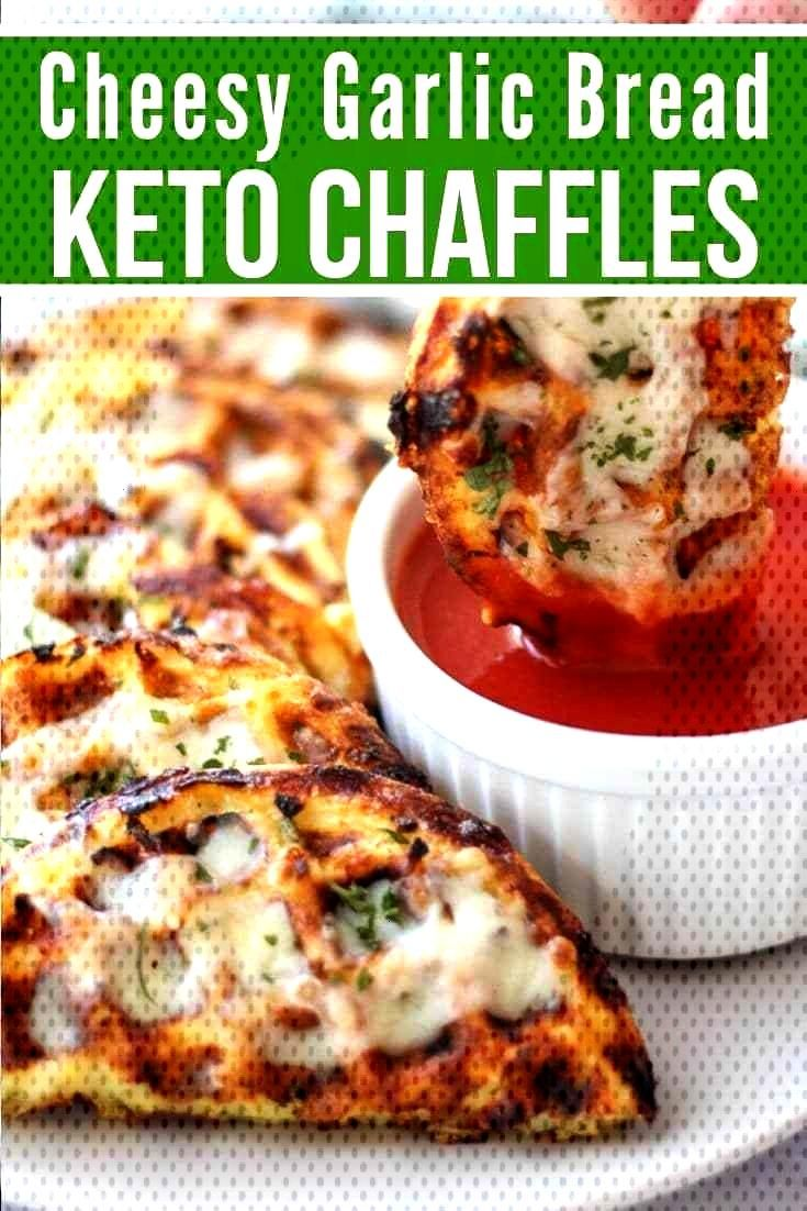 Easy Keto Cheesy Garlic Chaffle Bread will satisfy your cravings for an Italian ... -
