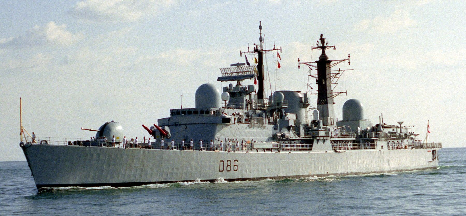 D86 Hms Birmingham Type Class Guided Missile Destroyer Sheffield Type 42 Class Batch 1 Builder Cammell La Royal Navy City Of Birmingham Birmingham