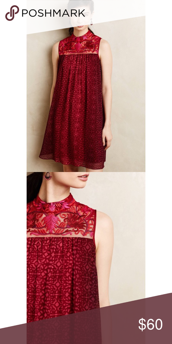 cb700ec37a55e Anthropologie Amara Swing Dress Worn once. Dry clean only. Anthropologie  Dresses Mini