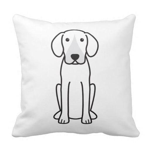 Harrier Dog Cartoon Throw Pillows
