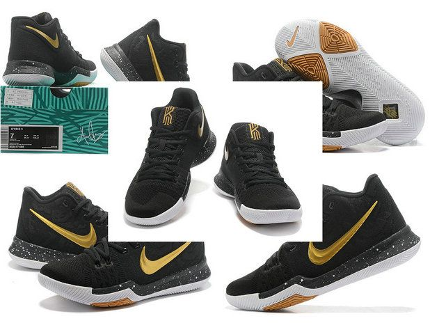 New Kyrie Shoes April 10 2017 Kyrie 3 III NIKEID Black Metallic Gold