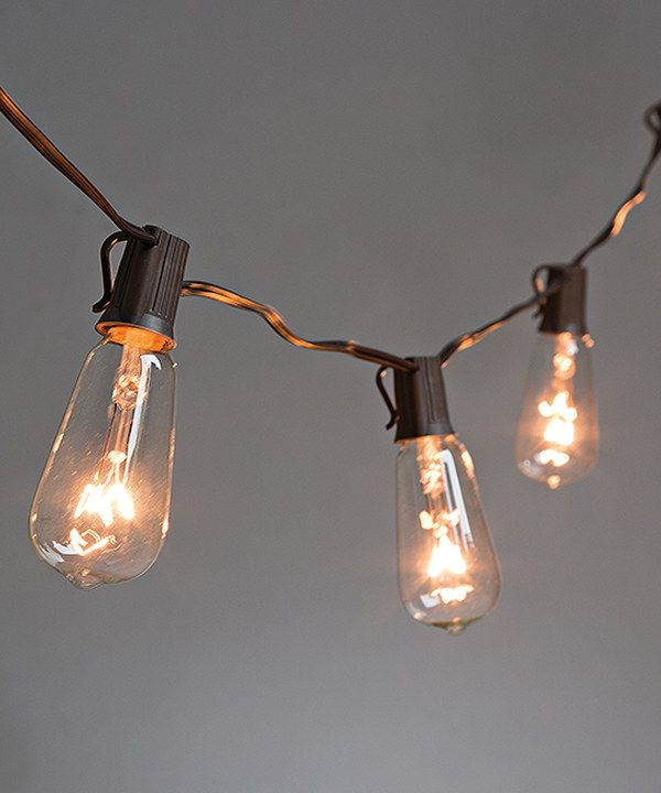 Look at this Brown Wire Patio Electric Light Set on #zulily today ...