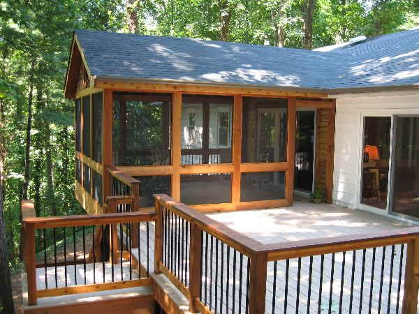 Would Love To Screen In Part Of The Deck Screened Porch Designs Porch Design House With Porch