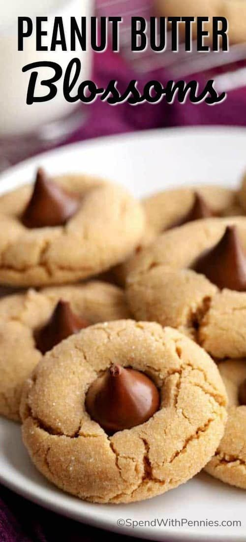 Peanut Butter Blossoms {Quick & Easy} - Spend With Pennies