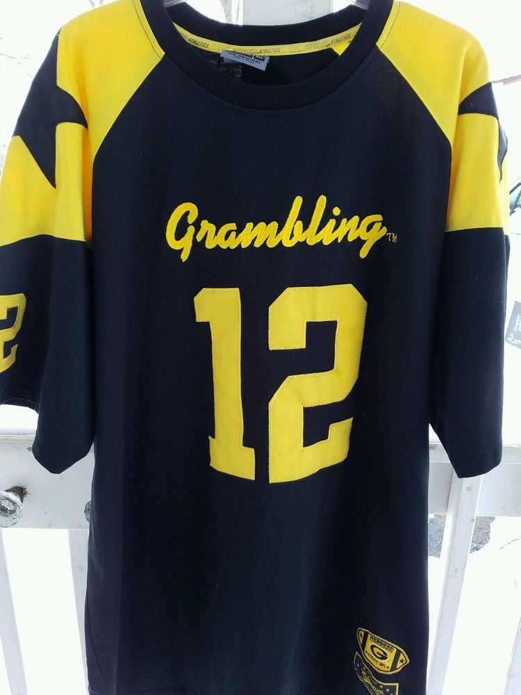cheaper ee123 181d2 Men's 2xl Grambling Tigers Jersey Shirt. Has a star and 12 ...