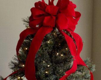 Ribbon Bow Christmas Tree Topper
